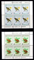 New Zealand 1966 Health Stamps - Birds Miniature Sheets MNH - See Notes - New Zealand
