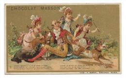 Chromo Publicitaire Chocolat MASSON - Cadet Roussel - Lith; J. Minot, Paris - Belle Dorure - Chocolat