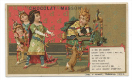 Chromo Publicitaire Chocolat MASSON - Le Bon Roi Dagobert - Lith; J. Minot, Paris - Belle Dorure - Chocolat