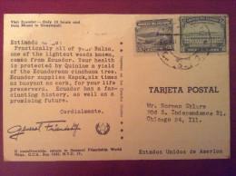 Ecuador, 1946 Postcard - General Friendshop In Ecuador Postcard - Ecuador