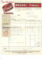 Ets Brunel Frères (Cires Starwax) - Hellemmes-Lille (59) - Facture Du 26 Avril 1958 - Récépissé Des Chèques Postaux - France