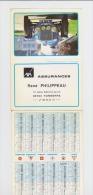 Petit Calendrier 1991 Assurances AXA TONNERRE 89 - Voiture Delage Panneau Signalisation Routière Numéros Minéralogiques - Calendari