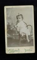 PHOTOGRAPHIE Foto - CDV  PHOTO  à Bedarieux - Jeanne Ricard Enfant Fillette - Geïdentificeerde Personen