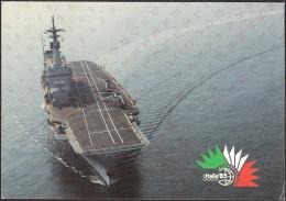 STATO MAGGIORE DELLA MARINA UFF.DAP - LE FORZE ARMATE A ITALIA 85 INCROCIATORE GIUSEPPE GARIBALDI, SCRITTA NON VIAGGIATA - Manovre