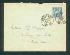 25 - Besançon - Entier Sage   - Daguin Tàd Type A 20 Mars 1894 Sur Enveloppe - Marcophilie (Lettres)