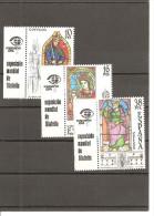 España/Spain-(MNH/**) - Edifil  2721-23 + Viñeta - Yvert  2341-43 - 1931-Today: 2nd Rep - ... Juan Carlos I