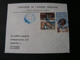 == Somalia Cv. 1954  Blue Cancel  Djibuti - Französich-Somaliküste (1894-1967)