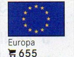 6 Flaggen-Sticker EUROPA In Farbe Pack 4€ Zur Kennzeichnung Von Alben Und Sammlung Firma LINDNER #655 Flag Of CEPT / EU - Zubehör