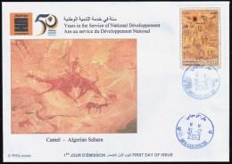 ALGERIE ALGERIA 2013 - FDC - Prehistory Rupestry - Tassili Rock Carvings Camel Dromedary Dromedar - Préhistoire