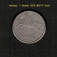 NORWAY    1  KRONE  1970  (KM # 409) - Norway