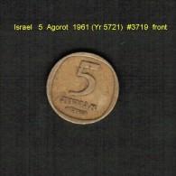 ISRAEL    5  AGOROT  1961 (YR 5721)  (KM # 25) - Israel