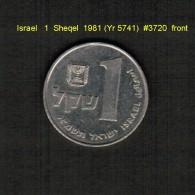 ISRAEL    1  SHEQEL  1981 (YR 5741)  (KM # 111) - Israel