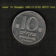 ISRAEL    10  SHEQALIM  1982 (YR 5742)  (KM # 119) - Israel