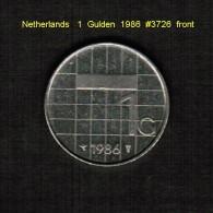 NETHERLANDS   1  GULDEN  1986  (KM # 205) - [ 3] 1815-… : Kingdom Of The Netherlands