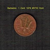 BARBADOS   1  CENT  1978  (KM # 10) - Barbados