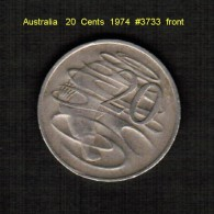 AUSTRALIA   20  CENTS  1974  (KM # 66) - Decimal Coinage (1966-...)