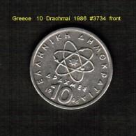 GREECE   10  DRACHMAI  1986  (KM # 132) - Griechenland