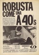 # AUSTIN INNOCENTI A40S 1950s Car Italy Advert Pub Pubblicità Reklame Auto Voiture Coche Carro - Cars