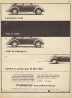 # VOLKSWAGEN  1960s Italy Car Advert Pub Pubblicità Reklame Auto Voiture Coche Carro - KFZ