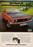 # OPEL MANTA SR 1970s Italy Car Advert Pub Pubblicità Reklame Auto Voiture Coche Carro - KFZ