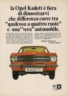 # OPEL KADETT 1100 1960s Italy Car Advert Pub Pubblicità Reklame Auto Voiture Coche Carro - KFZ
