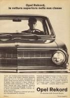 # OPEL REKORD 1960s Italy Car Advert Pub Pubblicità Reklame Auto Voiture Coche Carro - KFZ