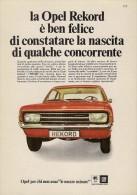 # OPEL REKORD 1970s Italy Car Advert Pub Pubblicità Reklame Auto Voiture Coche Carro - KFZ