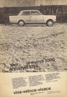 # VAUXHALL VIVA 1000 1950s Car Italy Advert Pub Pubblicità Reklame Auto Voiture Coche Carro - Cars