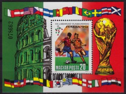 Football World Cup / Soccer / Italy / Colosseum - MNH Block - Hungary 1990 - Coupe Du Monde