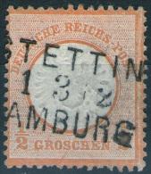 Bahnpost Stettin Hamburg Auf 1/2 Groschen Orange - DR Nr. 18 - Pracht - Deutschland