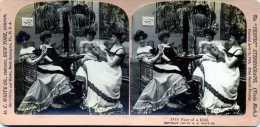LES QUATRE ATOUTS  H.C. WHITE CO  CARTON PHOTOS  STEREOSCOPIQUES - Stereoscopic