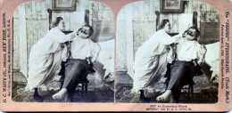 UN HOMME QUI A CONFIANCE EN SA FEMME   H.C. WHITE CO  CARTON PHOTOS  STEREOSCOPIQUES - Stereoscopic