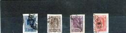 1923 - Serie Courante  Mi No 208B / 211 B NON DENTELES  Serie Complete - Used Stamps