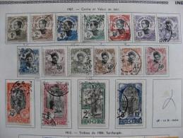 Indochine: N°41 Au N° 57, Oblitérés Sauf Le N° 46; NeufX . Cote = 158.00 Euros. - Usados