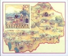 MK 2001-224 TRACHTEN, MACEDONIA, BL, MNH - Kostüme