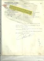 86 - Vienne - POITIERS - Facture MIREBEAU -  ébénisterie D'art – 1952 - France