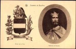 Wappen Ak Bouillon Wallonien Luxemburg, Godefroid De Bouillon, König - Autres