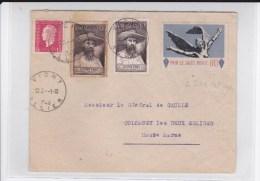"""1948 - VIGNETTE """"SALUT PUBLIC"""" (POSTERIEURE à La LIBERATION) /ENVELOPPE Pour Le GENERAL DE GAULLE - COTE MAYER = 350 Eur - Cartas"""