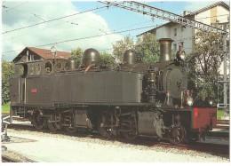 TRAIN Suisse - EISENBAHN Schweiz - SAINT-LÉGIER - LA CHIÉSAZ - Locomotive à Vapeur E 206 - Photo S. Weber - Gares - Avec Trains