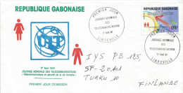 Gabon 19891 Libreville Space Telecommunication ITU Earth FDC Cover - Brieven & Documenten
