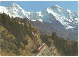 TRAIN Suisse - EISENBAHN Schweiz - SCHYNIGE PLATTE - Schynige-platte-Bahn Mit Mönch Und Jungfrau - Autorail Tramway Berg - Trains