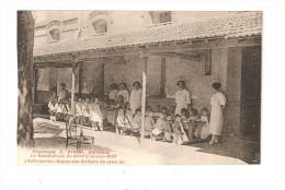 CPA :66 - Banyuls Sur Mer : Sanatorium : L'Infirmerie - Repas Des Enfants En Plein Air : Enfants Mangeant Sous Un Auvent - Banyuls Sur Mer