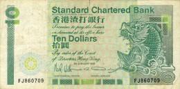 BILLET # HONG KONG  # 10 DOLLARS  # PICK  # 1991 # CIRCULE # - Hong Kong