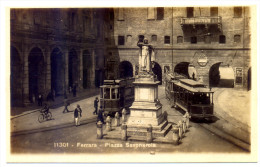Anni '30, Ferrara, Piazza Savonarola, Tram Per San Giorgio, Pubblicità Birra Wuhrer, Animata / Tramway, Beer - Ferrara