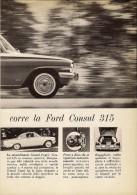 # FORD CONSUL CAPRI 315 1960s Car Italy Advert Pub Pubblicità Reklame Auto Voiture Coche Carro - Cars