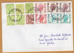 Enveloppe Cover Brief Avec 3 Elström Service De Pinte à Ghlin - Belgique