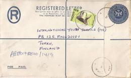Nigeria 2003 Aba Bonobo Ape Monkey 28K Stationary Registered Cover - Nigeria (1961-...)