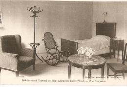 SAINT-AMAND - établissement Thermal  - Une Chambre - Mobilier Art Déco - Dominois éditeur - Saint Amand Les Eaux