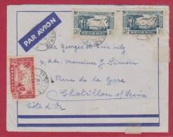 Enveloppe Par Avion // Du SENEGAL Pour CHATILLON / SEINE   // 02/1939 - Senegal (1887-1944)