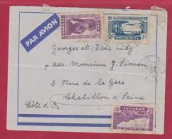 Enveloppe Par Avion // Du SENEGAL Pour CHATILLON / SEINE   // 31/01/1939 - Senegal (1887-1944)